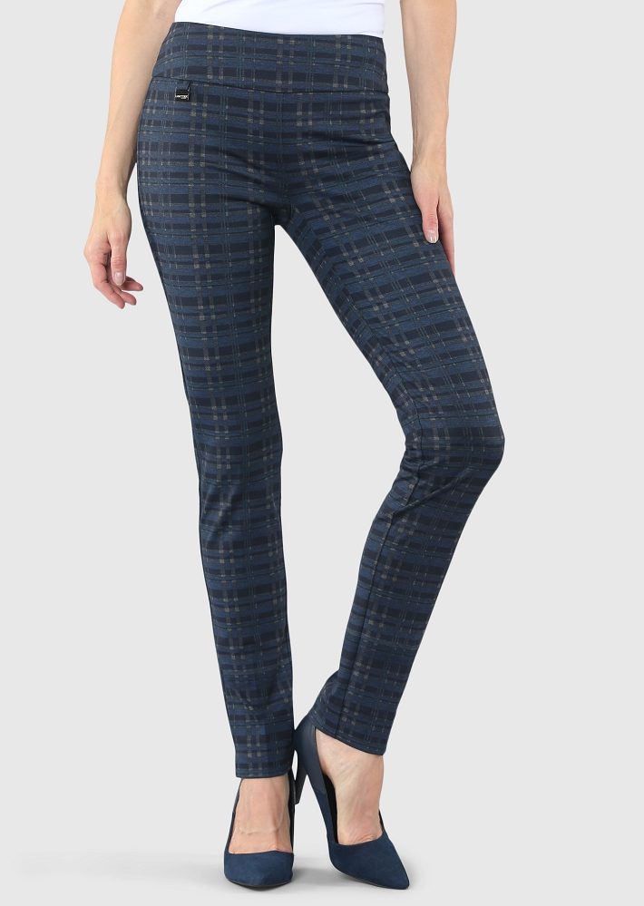 Lisette L. Skinny Leg Pant Style 54005 Lucia Plaid Print, 2 Colors Available
